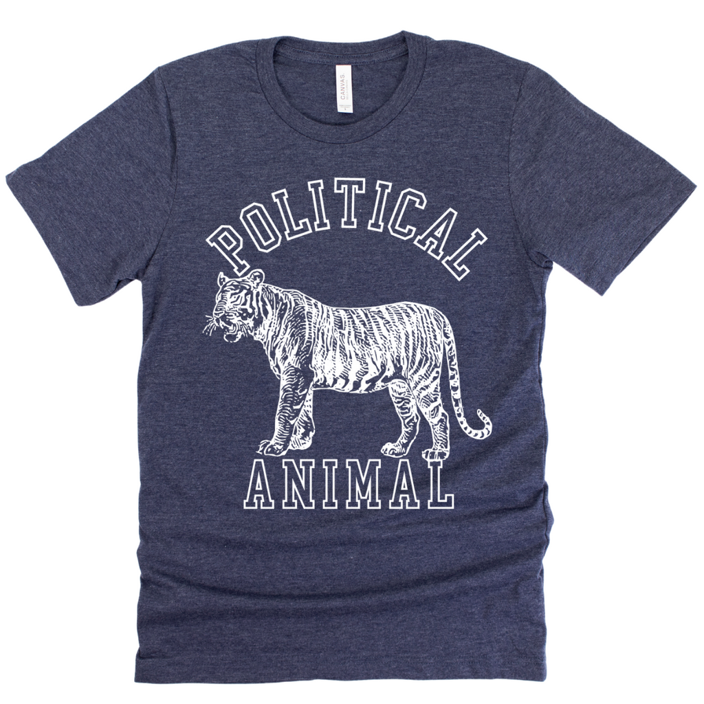 Political Animal Adult Unisex T-Shirt Navy Heather