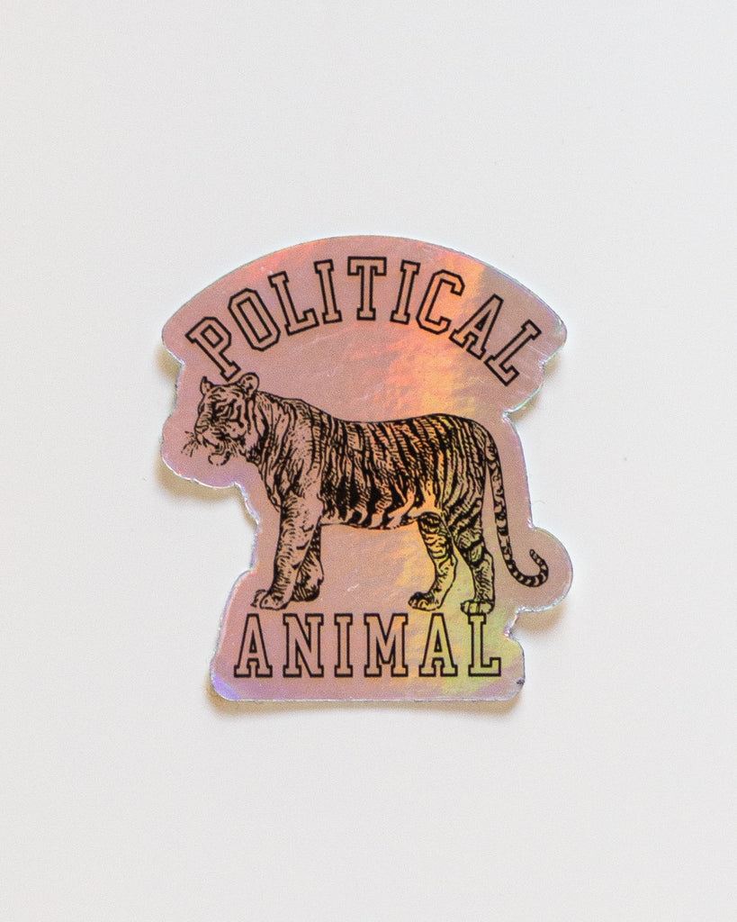 Political Animal Holograph Sticker