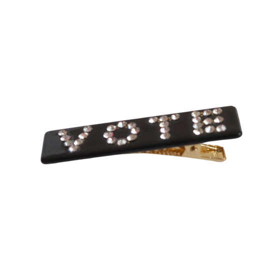 Vote Rhinestone Barrette