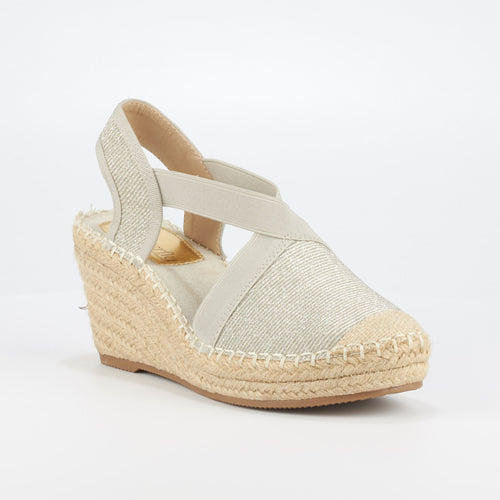 Butterfly Feet Noa3 Silver Wedges