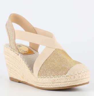 Butterfly Noa2 Wedge Heel Shoe (Gold)