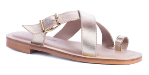 Saint&Summer Lexie Gold Leather Crossover w/ Buckle