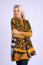 Load image into Gallery viewer, Iconic Burberry Reversible Pashmina Ochre & Tartan Animal Print