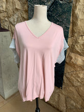 Load image into Gallery viewer, Iconic Plain Wide Cut Sleeve Top (Baby Pink)