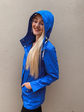 Load image into Gallery viewer, Julz Rain Jacket in Lake Blue