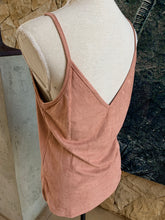 Load image into Gallery viewer, Bon Bon Velvet Tank Top (Peach)