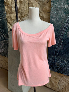 Bon Bon Plain Cotton T-Shirt (Baby Pink)