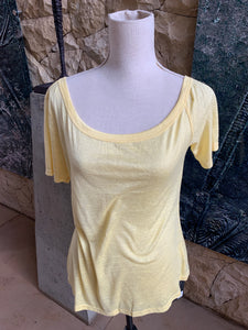 Bon Bon Plain Cotton T-Shirt (Yellow)