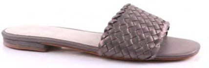 Julz Pewter Leather Sandals