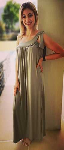 Olive Fatigue Maxi Dress