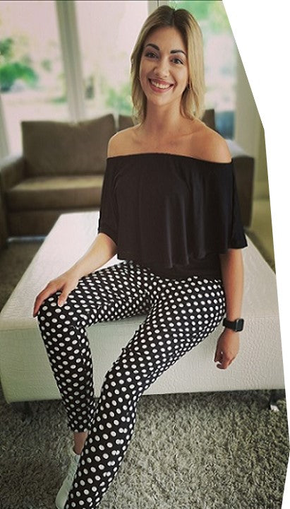 Black & White Polka Dot Skinnies