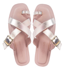 Load image into Gallery viewer, Saint&Summer Lexie Gold Leather Crossover w/ Buckle