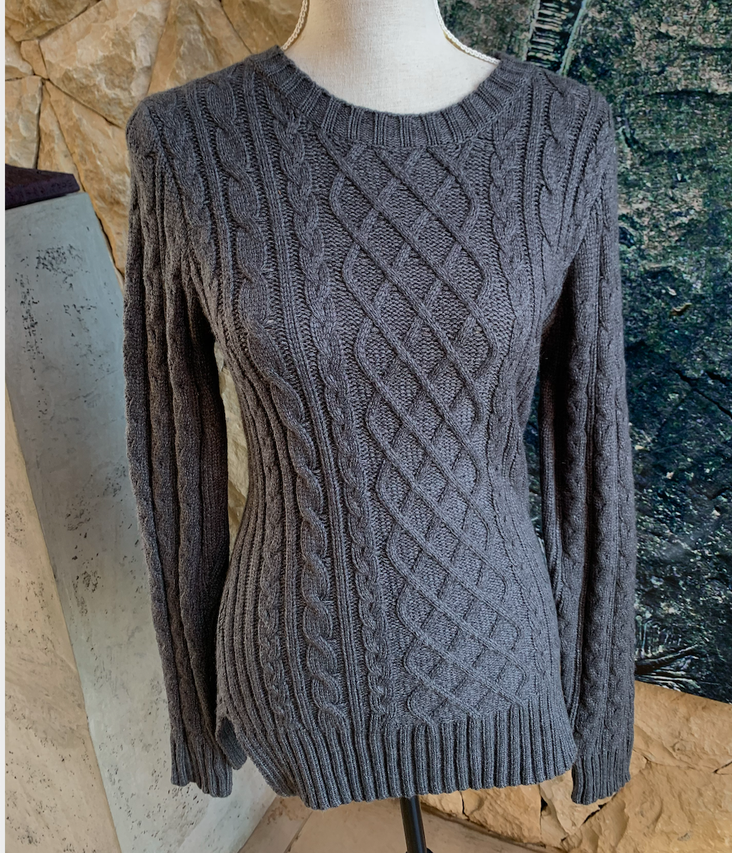 Bon Bon Knitted Sweater (Grey)