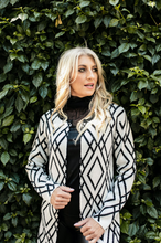 Load image into Gallery viewer, Bon Bon Long Sleeved Black and White Cardi