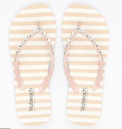 Viabeach Haiti Striped Sandal (Salmon)