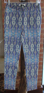 Multi-Coloured Patterned Jeggings