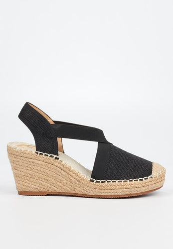 Butterfly Feet Noa3 Black Wedges