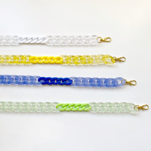 Two-tone Jelly mask chains