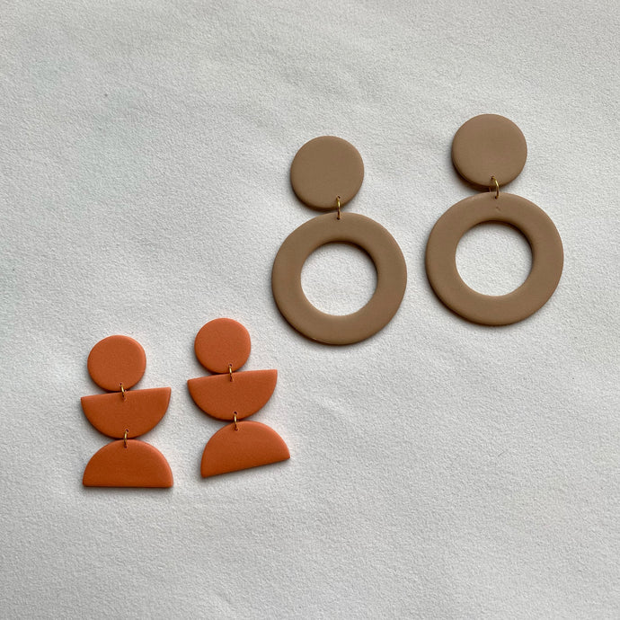 Terracotta and sand mod dangles (two pack)