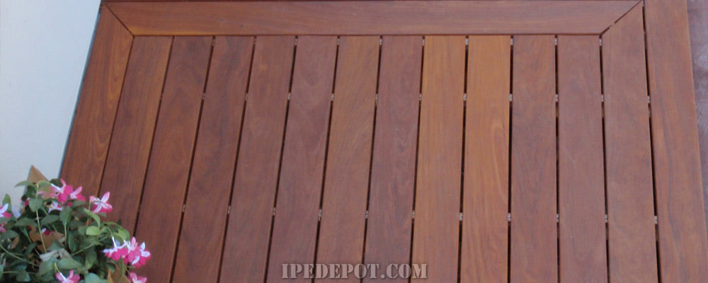 one sided pregrooved ipe decking
