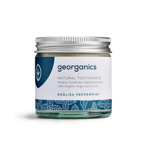 Georganics Dentifricio Naturale Rimineralizzante all'Olio di Cocco Biologico - Menta Piperita 60ml