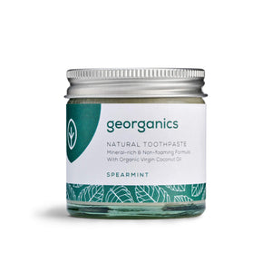 Georganics Dentifricio Naturale Rimineralizzante all'Olio di Cocco Biologico - Menta Romana 60ml