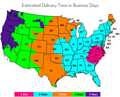Estimated Delivery Time in Business Days