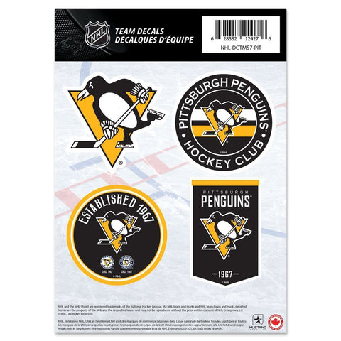 Pittsburgh Penguins Stickers 4er Set