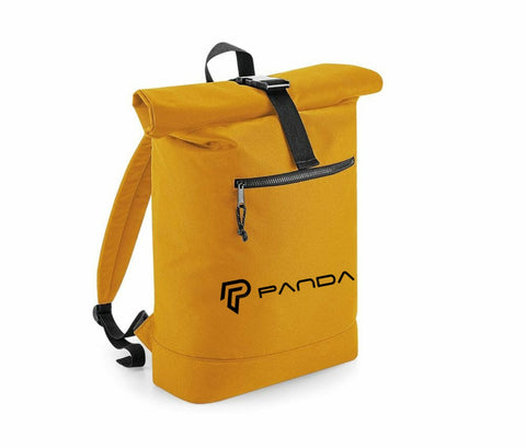 Recycled Plastic Roll Top Back Pack Mustard