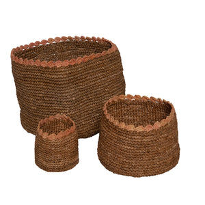 Set of 3 SCALLOP Baskets