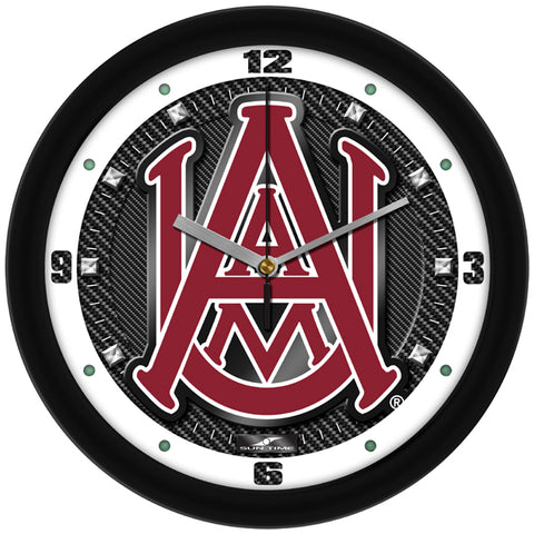 Alabama A&M Bulldogs - Carbon Fiber Textured Wall Clock - SuntimeDirect