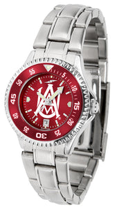 Alabama A&M Bulldogs - Competitor Ladies' Steel AnoChrome  -  Color Bezel - SuntimeDirect