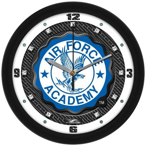 Air Force Falcons - Carbon Fiber Textured Wall Clock - SuntimeDirect