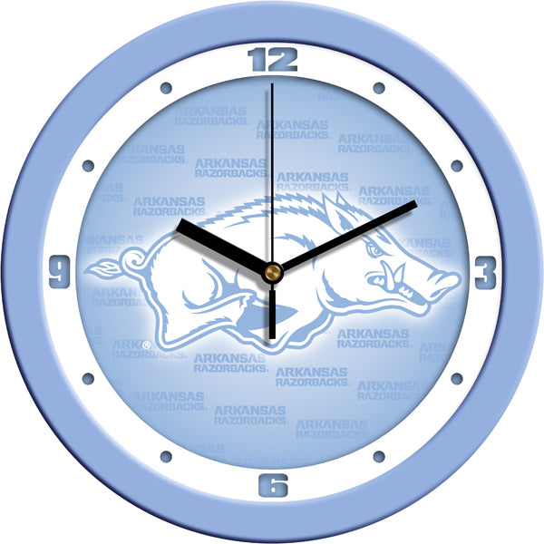 Arkansas Razorbacks - Baby Blue Wall Clock