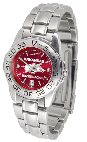 Arkansas Razorbacks - Ladies' Sport Steel AnoChrome