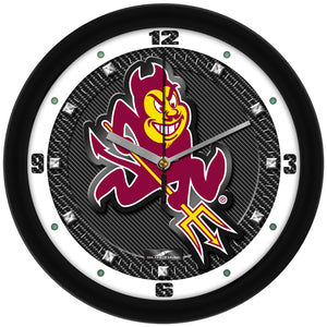 Arizona State Sun Devils - Carbon Fiber Textured Wall Clock - SuntimeDirect