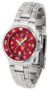 Arizona State Sun Devils - Competitor Ladies' Steel AnoChrome  -  Color Bezel - SuntimeDirect
