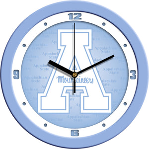 Appalachian State Mountaineers - Baby Blue Wall Clock