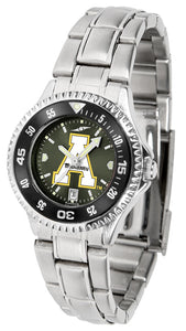 Appalachian State Mountaineers - Competitor Ladies' Steel AnoChrome  -  Color Bezel - SuntimeDirect
