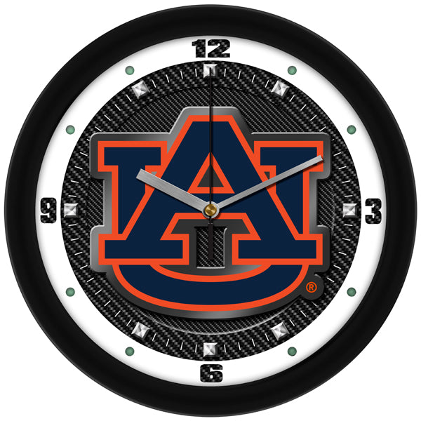 Auburn Tigers - Carbon Fiber Textured Wall Clock - SuntimeDirect