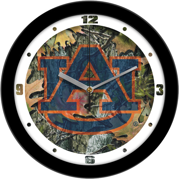 Auburn Tigers - Camo Wall Clock - SuntimeDirect