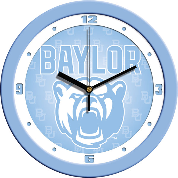 Baylor Bears - Baby Blue Wall Clock - SuntimeDirect