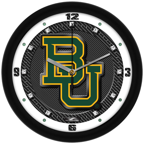 Baylor Bears - Carbon Fiber Textured Wall Clock - SuntimeDirect