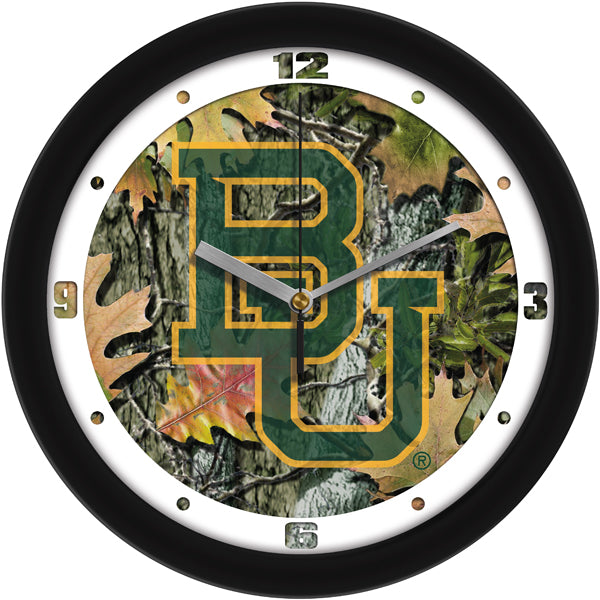 Baylor Bears - Camo Wall Clock