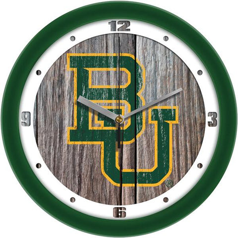 Baylor Bears - Weathered Wood Wall Clock