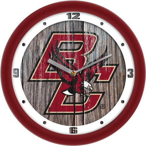 Boston College Eagles - Weathered Wood Wall Clock - SuntimeDirect