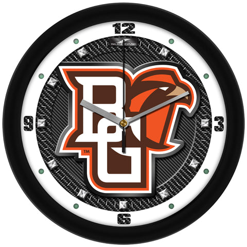 Bowling Green Falcons - Carbon Fiber Textured Wall Clock - SuntimeDirect
