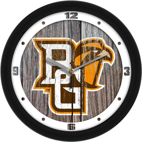 Bowling Green Falcons - Weathered Wood Wall Clock - SuntimeDirect