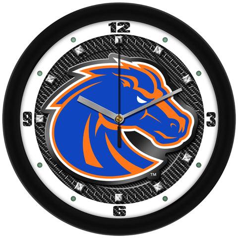 Boise State Broncos - Carbon Fiber Textured Wall Clock - SuntimeDirect