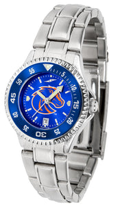Boise State Broncos - Competitor Ladies' Steel AnoChrome  -  Color Bezel - SuntimeDirect